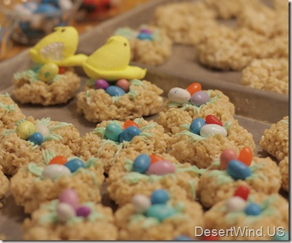 rice crispy nests